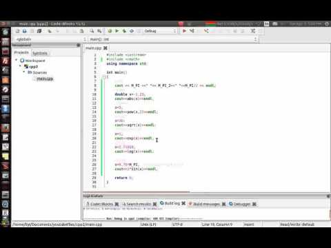 C C2   common mathematical functions in cmath with c++