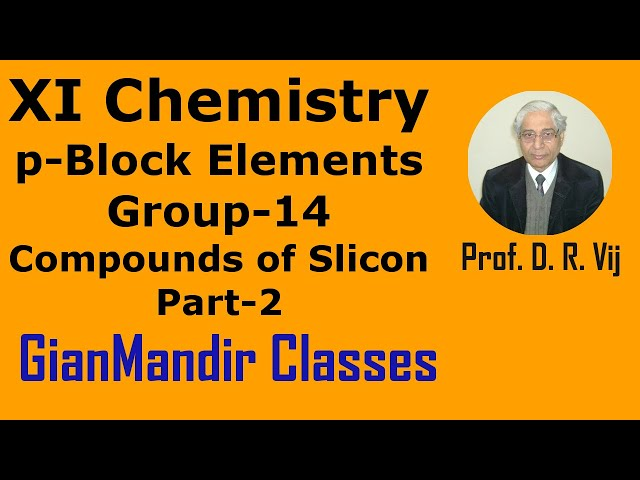 XI Chemistry | p-Block Elements | Group-14 | Compounds of Silicon Part-2 by Ruchi Ma'am