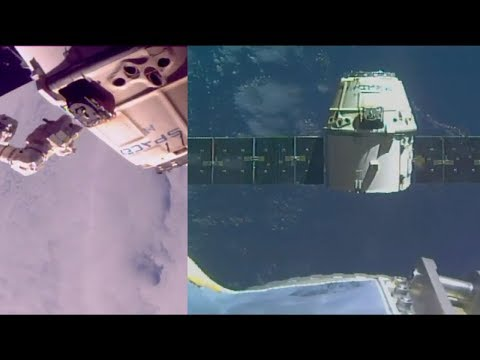 SpaceX CRS-13: Dragon departure from the ISS