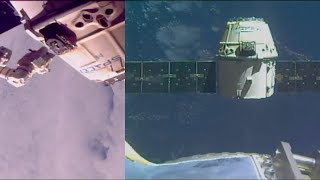SpaceX CRS-13 Dragon departure from the ISS