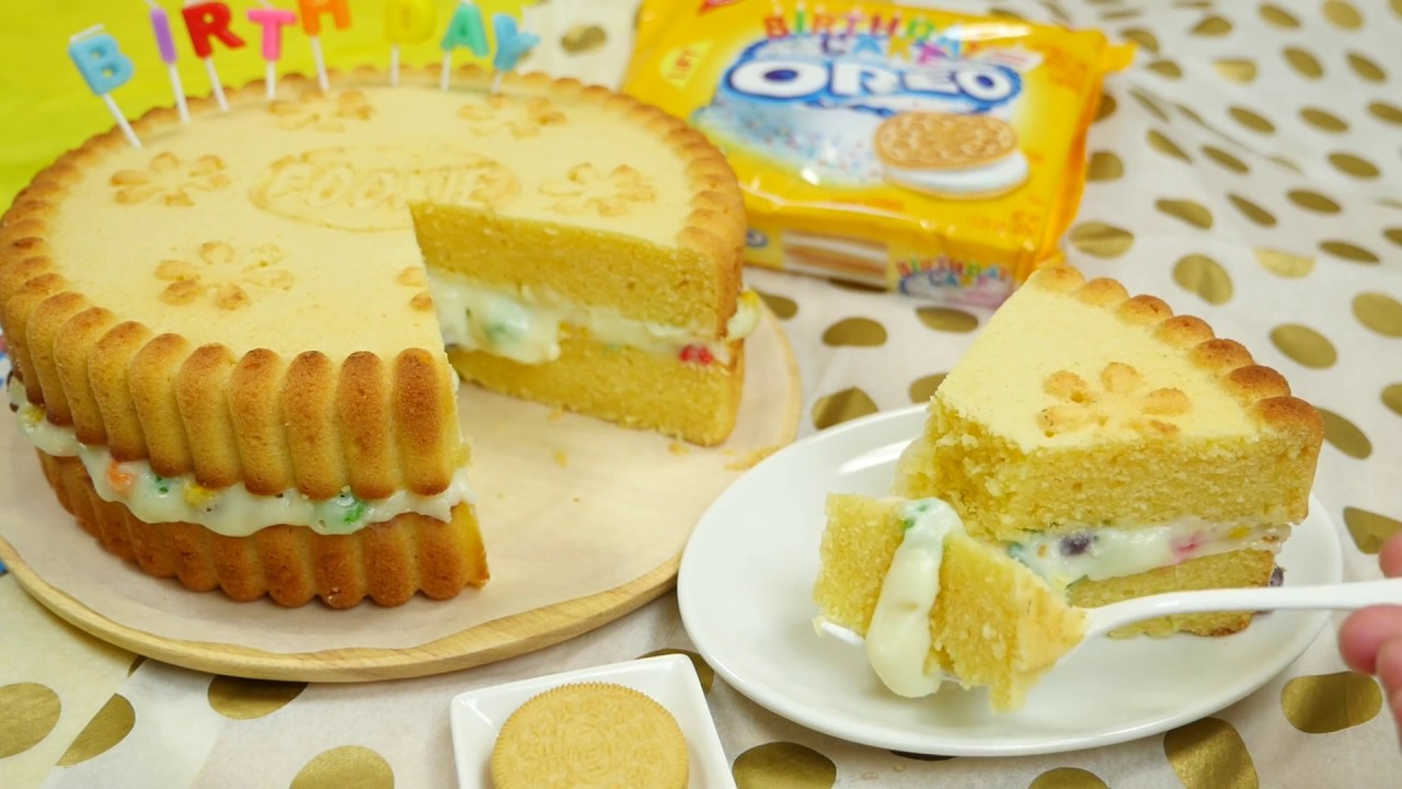 Giant Golden Oreo Birthday Cake