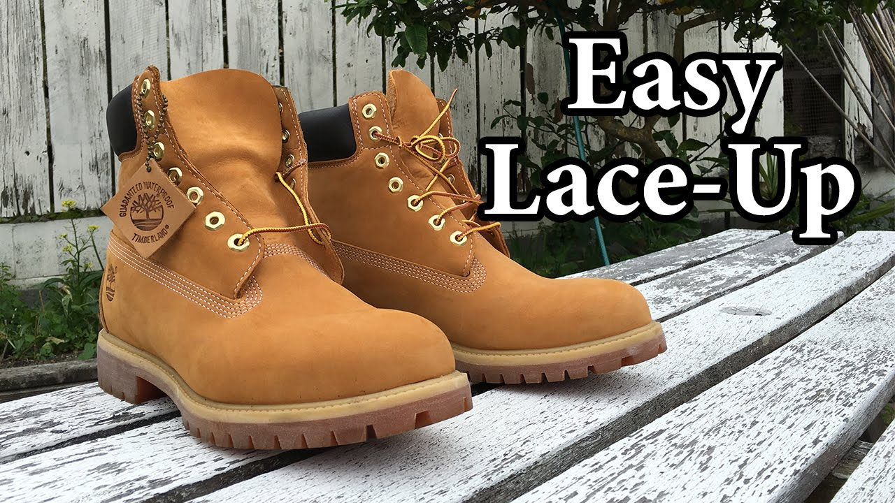81f3ce588c43 How I Lace My Timberlands - YouTube