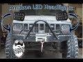 Cheap Amazon LED Headlight Review and Install Jeep Cherokee XJ