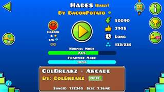 Geometry Dash: Hades by BaconPotato 2coins (Daily) (york210022) Video