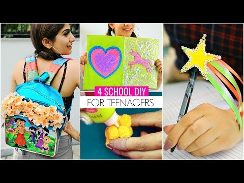 4 BACK To SCHOOL DIY For TEENAGERS... | #SchoolSupplies #Craft #Anaysa #DIYQueen