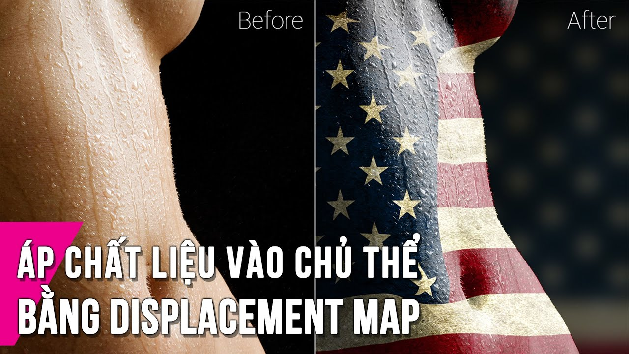 Áp Chất Liệu Vào Chủ Thể Bằng Displacement Map