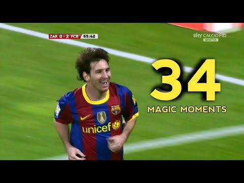 34 Unbelievable Messi Magic Moments  With Commentaries