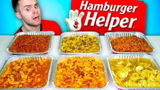 I tried every kind of HAMBURGER HELPER... BEST & WORST - Taste Test REVIEW!