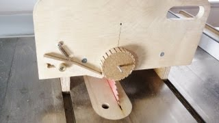 Table Saw Circle And Gear Jig