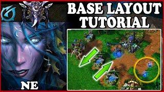 Grubby | Warcraft 3 TFT | 1.30 | NIGHT ELF Base Layout TUTORIAL