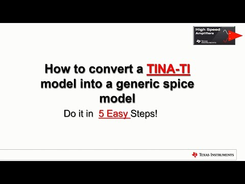 How to convert a TINA-TI model into a generic spice model