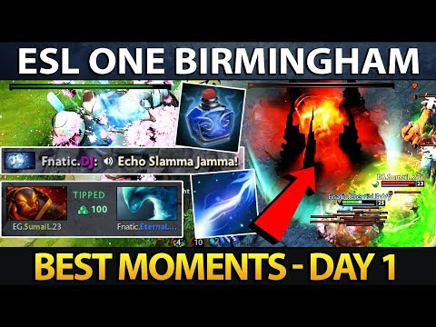 Best Moments ESL One Birmingham 2018 - Day 1 Dota 2