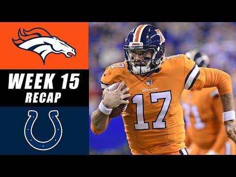 Broncos vs Colts Week 15 Recap