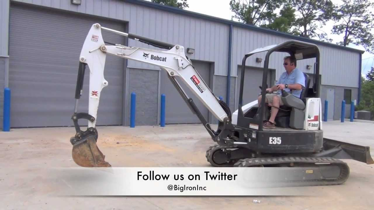 2011 bobcat e35 mini excavator for sale 2nd of the pair youtube