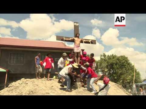 Catholic penitents re-enact crucifixion of Jesus on Good Friday