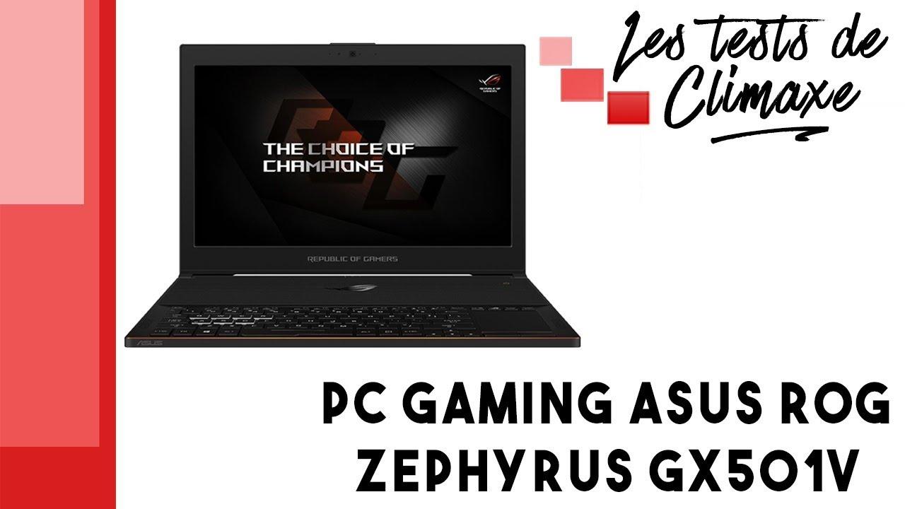 Test d'un PC portable gaming ASUS ROG Zephyrus GX501