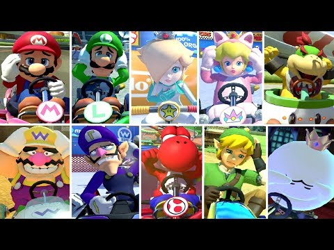 Mario Kart 8 Deluxe - All Character's Losing Animations