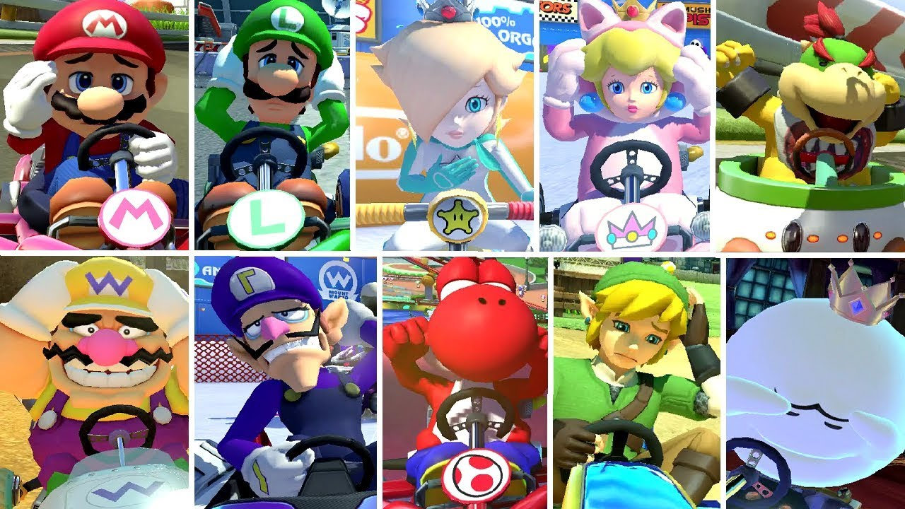 Mario Kart 8 Deluxe All Characters Losing Animations