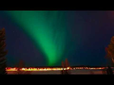 Aurora time lapse from Boden, Sweden