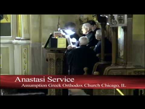 Holy Pascha Canon Resurection 4/07/18 at Assumption Panagia Greek Orthodox Church Chicago, IL