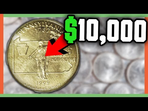 RARE STATE QUARTERS WORTH MONEY - ERROR QUARTERS TO LOOK FOR!!