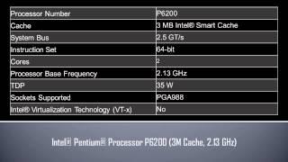 intel pentium processor p6200