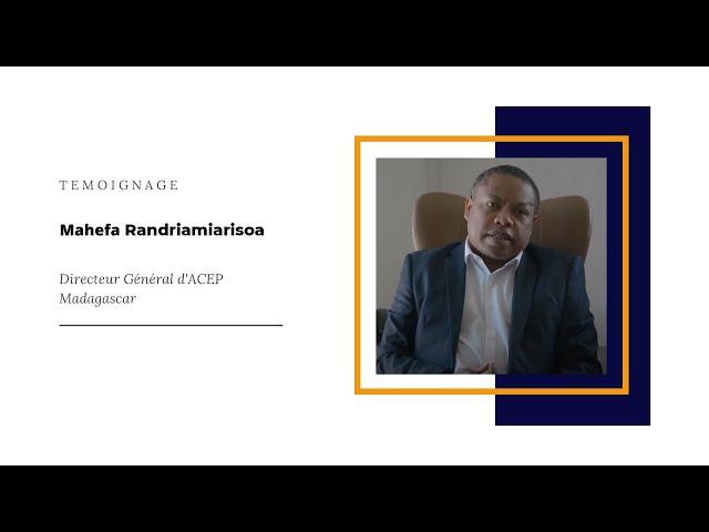 Témoignage ACEP Madagascar - DG