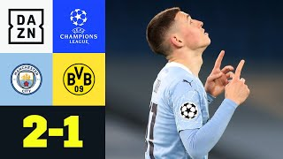 90. Minute! Phil Foden schockt BVB: Man City - Dortmund 2:1 | UEFA Champions League