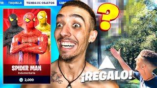 ¡SPIDERMAN LLEGA A FORTNITE y el GRAN REGALO AL ESCUADRÓN SALCHICHÓN! - Agustin51