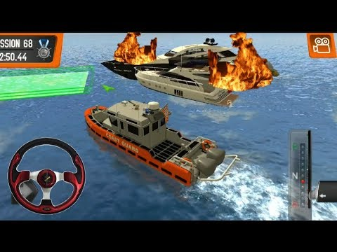 Coast Guard : BEACH RESCUE TEAM #10 Ship On Fire | Android Video Game |