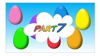 Animated Surprise Easter Eggs for Learning Colors Part 7 - Children