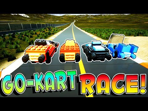 Brick Rigs Game | GO-KART RACE AROUND THE TRACK & DOWN THE CANYON! | Brick Rigs Gameplay Multiplayer