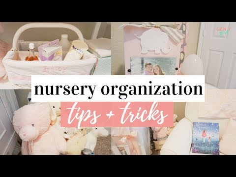 NURSERY ORGANIZATION IDEAS 👶🏼💕 | Baby Girl Nursery Tour | Kayla Buell