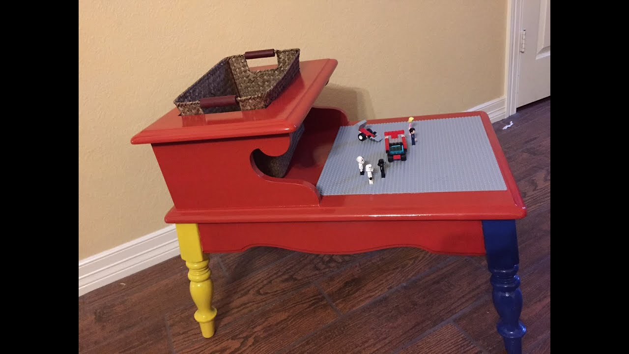 DIY Upcycle   Lego Table (slide And Video)   YouTube