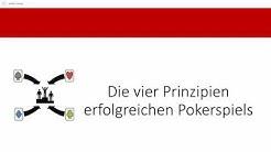Die vier wichtigsten Prinzipien für erfolgreiches Pokerspiel | strategische Grundlagen im Poker