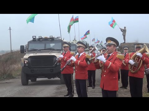 Azerbaijan Military Convoy Enters Aghdam in Nagorno-Karabakh