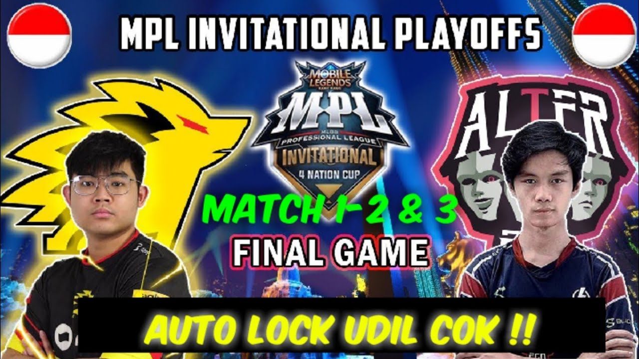 Alter Ego Vs Onic MPL 4 Invitational playoffs | full match