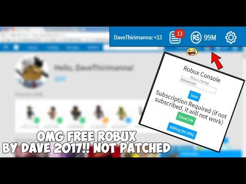 FREE ROBUX HACK NO INSPECT AND ELEMENT 2018 NOT PATCHED!!