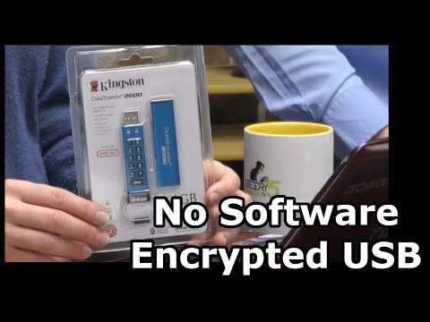 Encrypted Flash Drive Requires No Software or Technical Voodoo Mp3