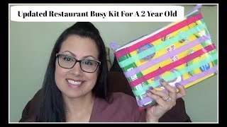 Restaurant Busy Kit For A 2 Year Old