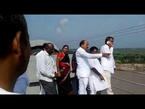 Harishrao Visits singur project