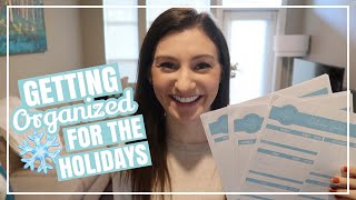 HOLIDAY HOME ORGANIZATION AND PREP // Get Organized Before Christmas + Tips for Stress Free Holidays