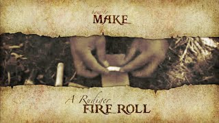 Boswa Survival - BUSHCRAFT Making a Rudiger Fire Roll