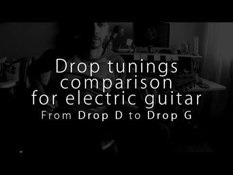 Dropped Tunings For Electric Guitar - Drop D to G comparison