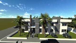 Concevoir maison moderne avec 6 chambres. Code 071