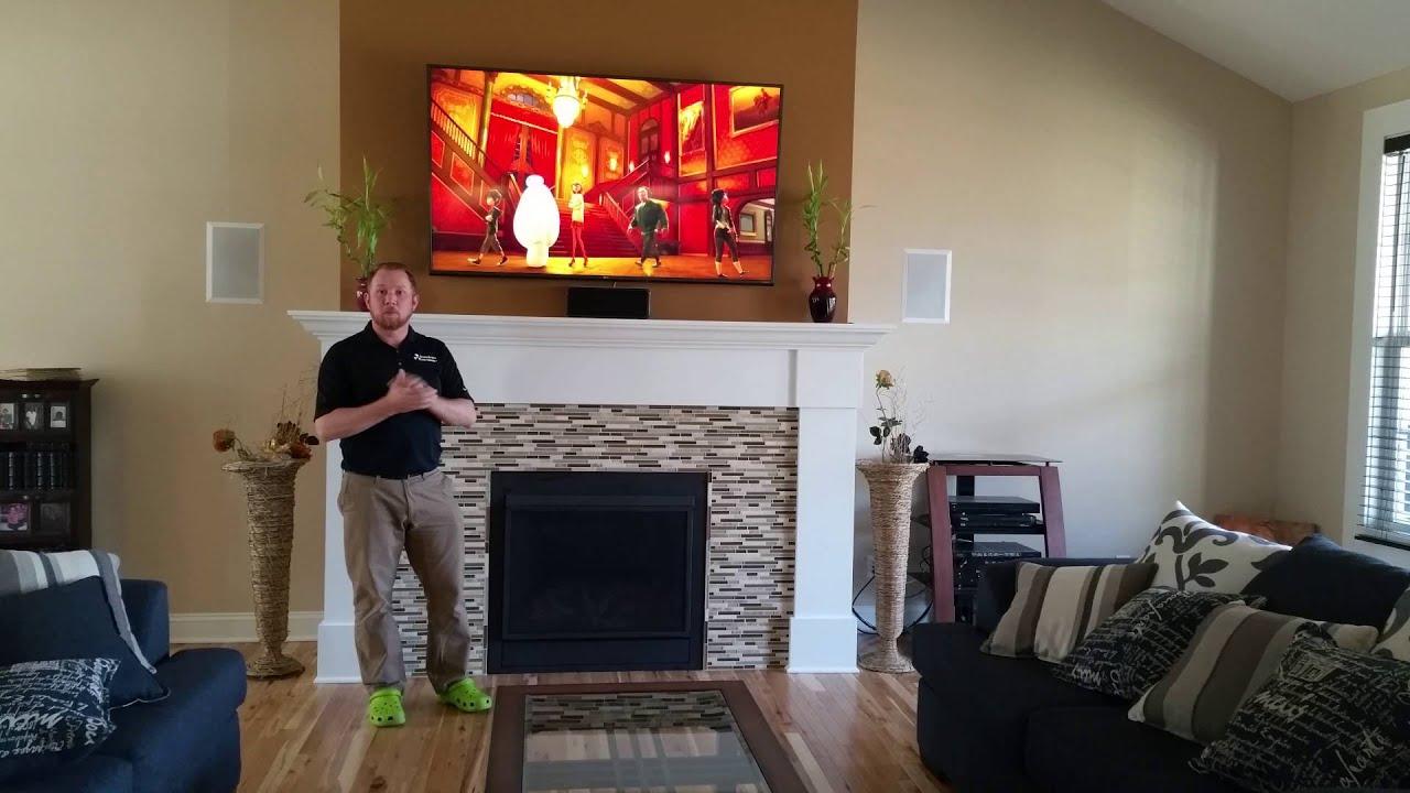 LG 65 Fireplace and Wifi Aurora - YouTube