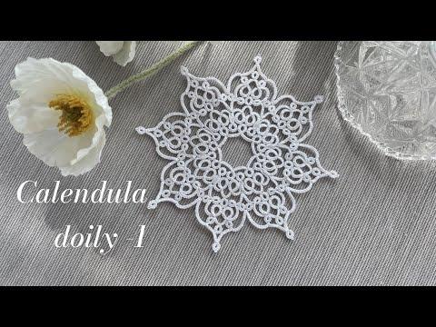 Calendula doily -1,