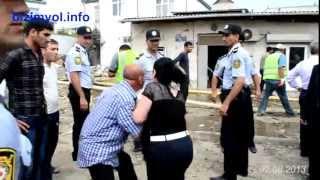 Xutor sakini ilə polis arasındakı qarşıdurma