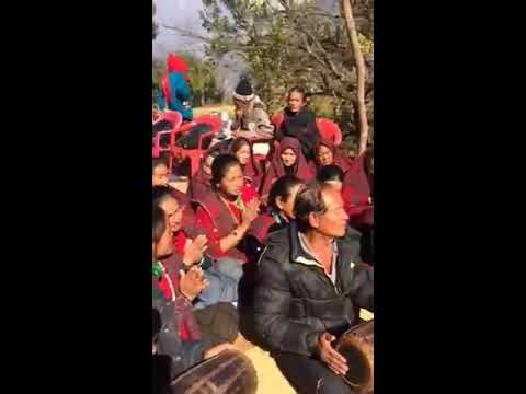 Puma village mother&39;s group dancing Gurung songs