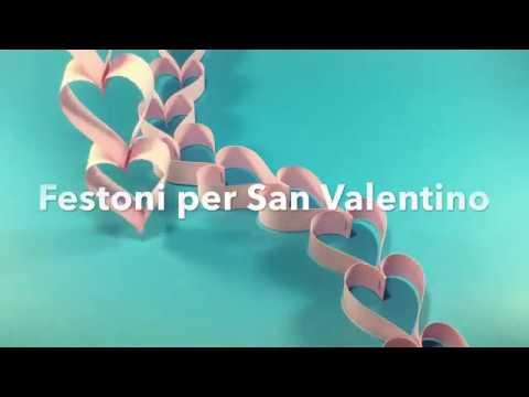 Idee san valentino fai da te festoni di cuori di carta for Idee san valentino fai da te